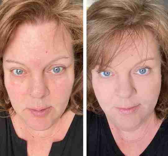 Mommy Makeup Before and After