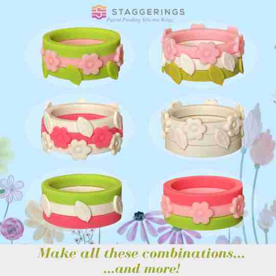 Some of the silicone ring bundle combinations you can make with the signs of spring bundle pack
