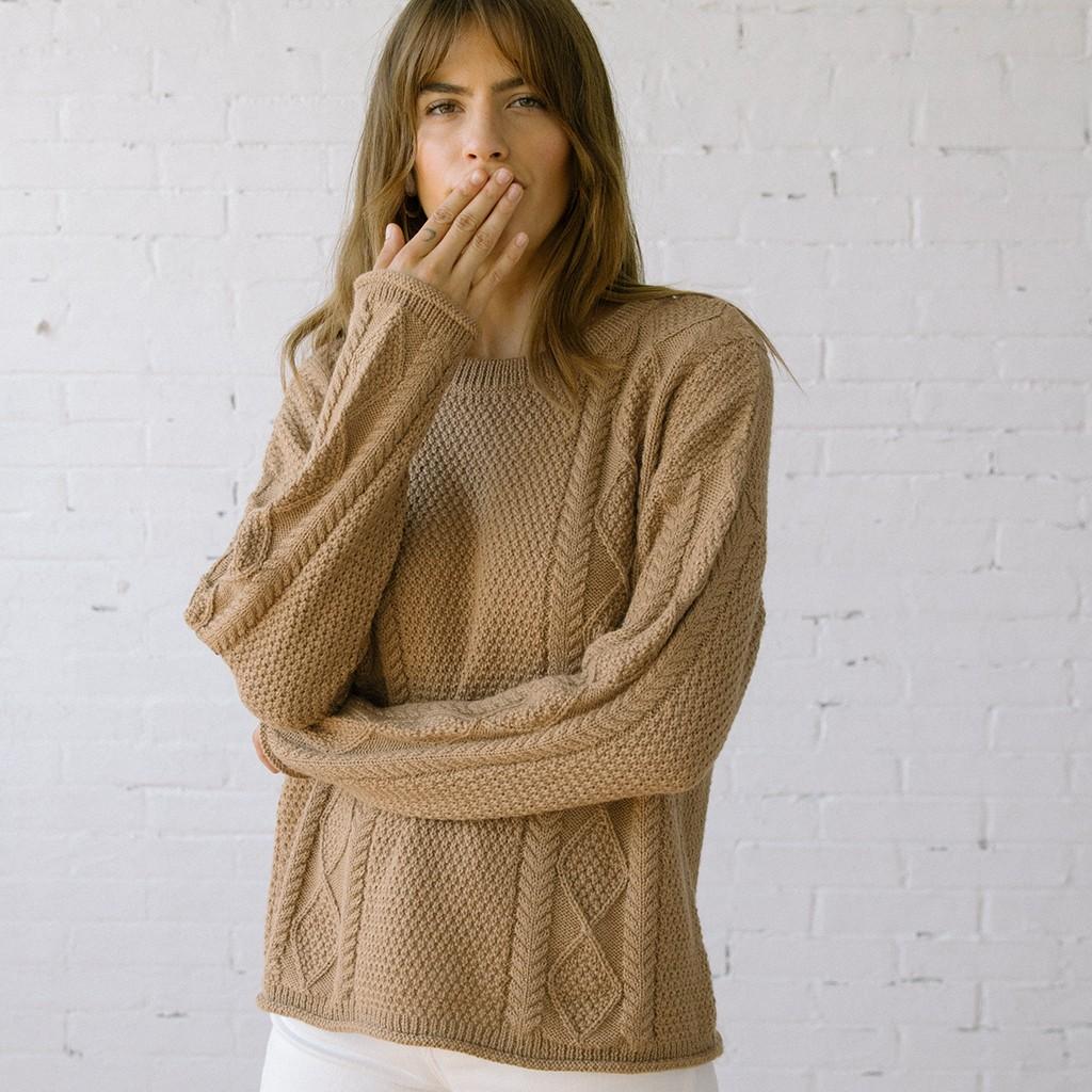 Modern Fisher Sweater Alpaca Hazel