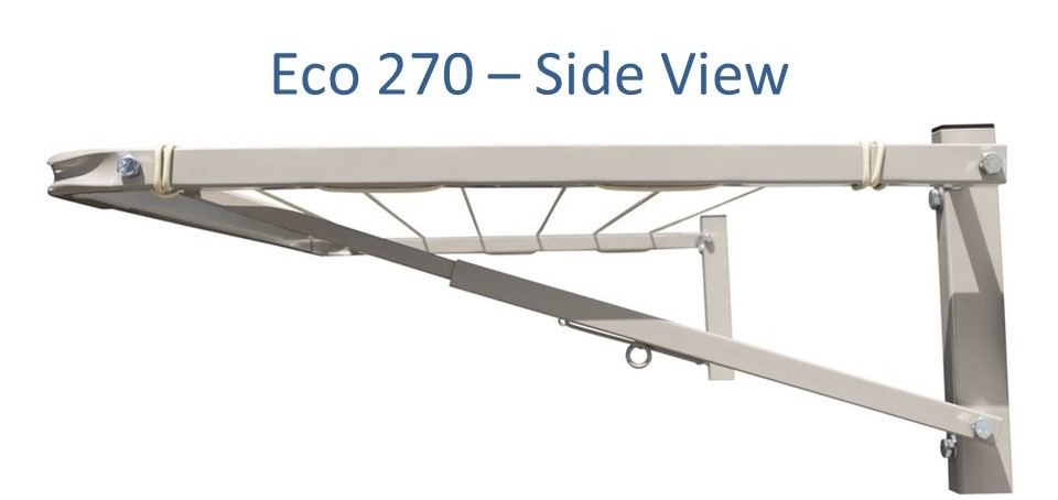 Eco 270 2.6m wide clothesline in full steel construction