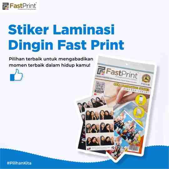 stiker laminasi dingin fast print