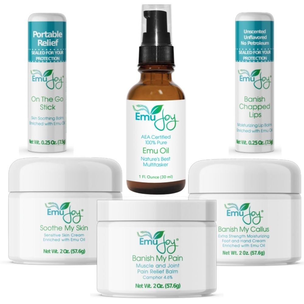 Emu Joy emu oil products for skin, hair, muscles and joints