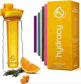 Infuser Water Bottle 25oz - Sunny Yellow - Bottle & Box