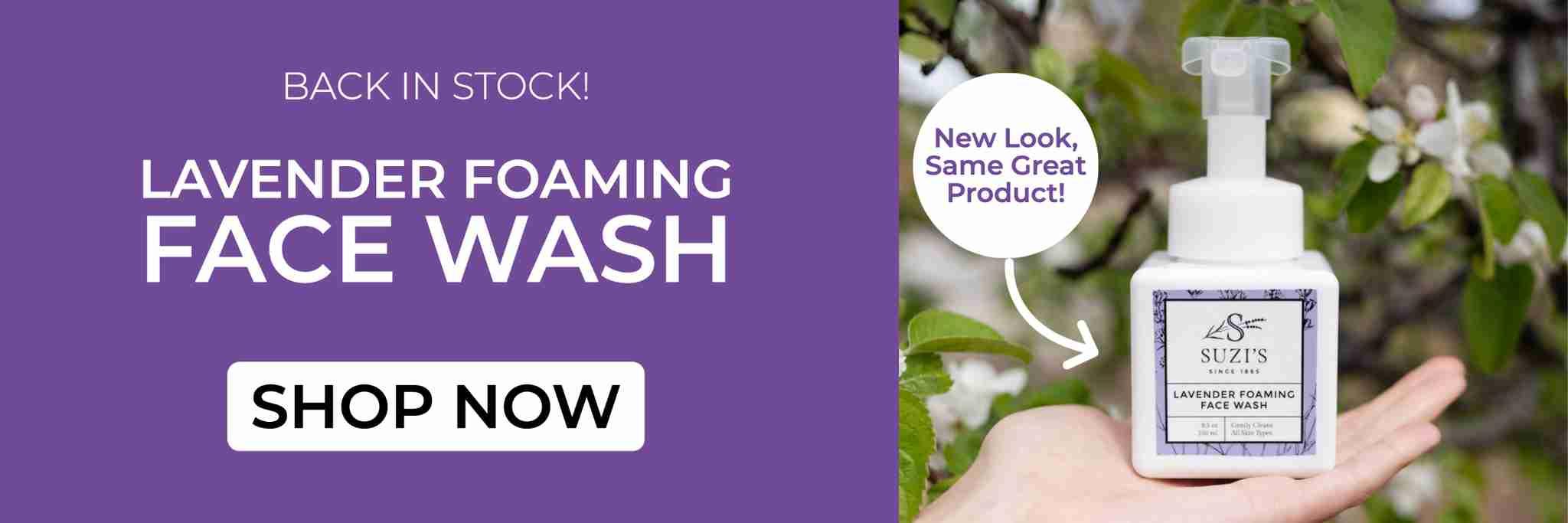 All Natural Foaming Face Wash With Lavender - Suzi's Lavender