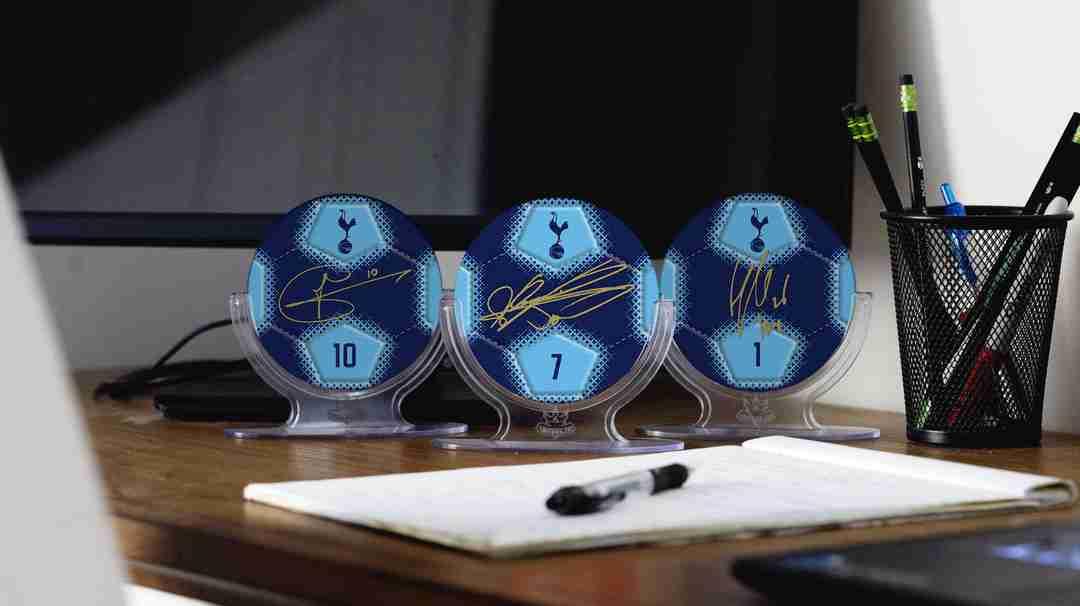 Tottenham Signables on Desk
