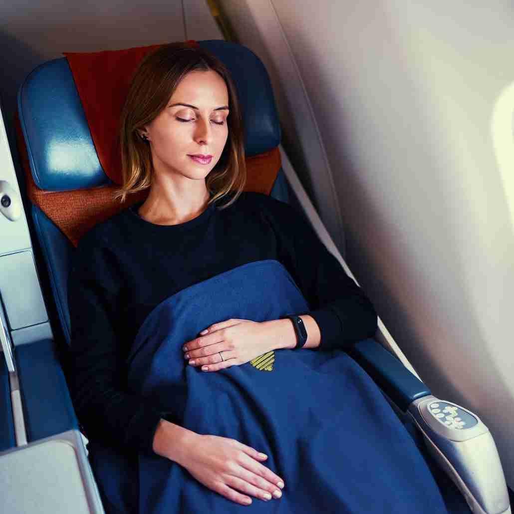 travel airplane blanket