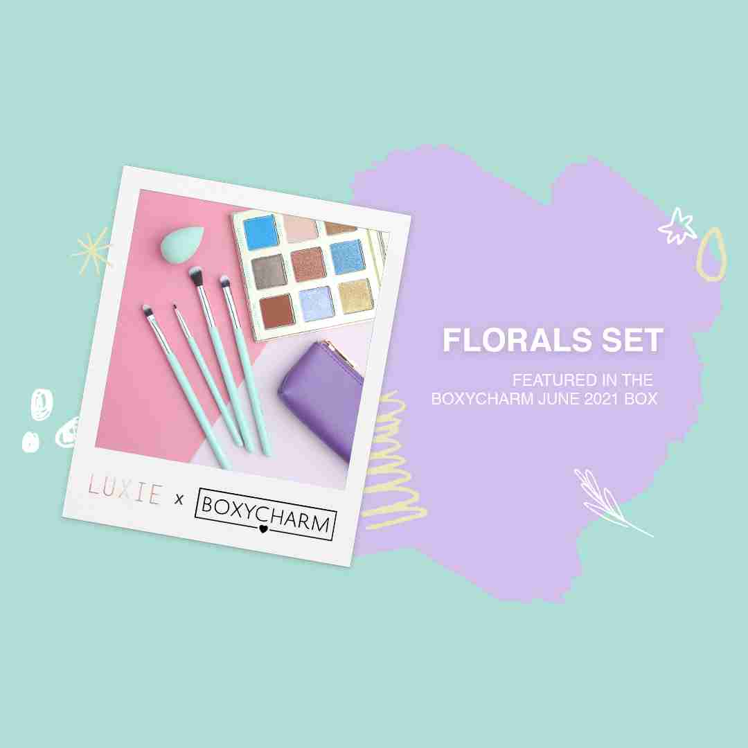 Luxie's Floral Set featured in the Boxycharm June 2021 box.