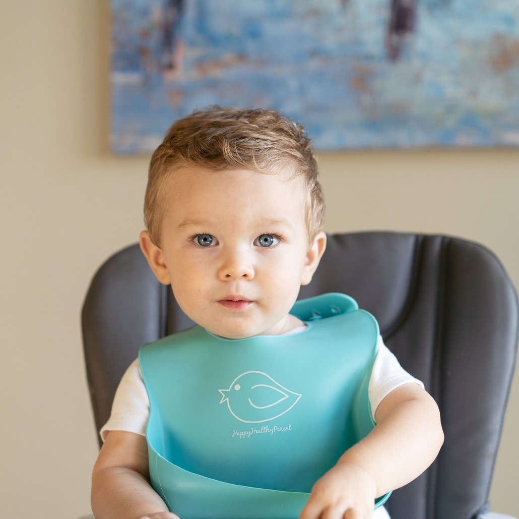 E-Z-Clean Silicone Bibs - Set of Two