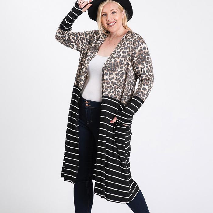 Sharon Curve Leopard Cardigan
