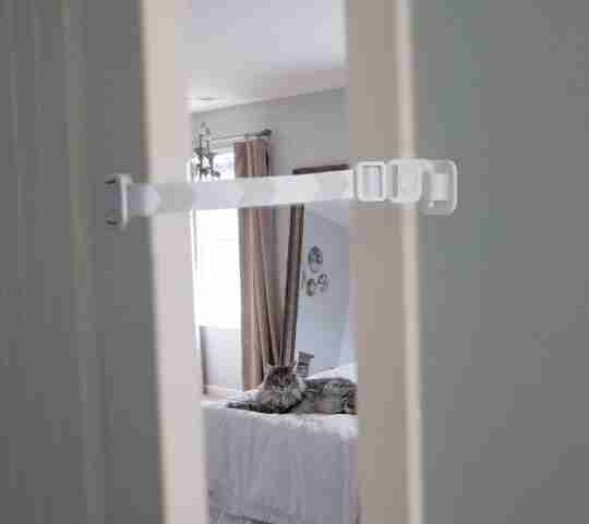 keep door ajar for cat - blog image