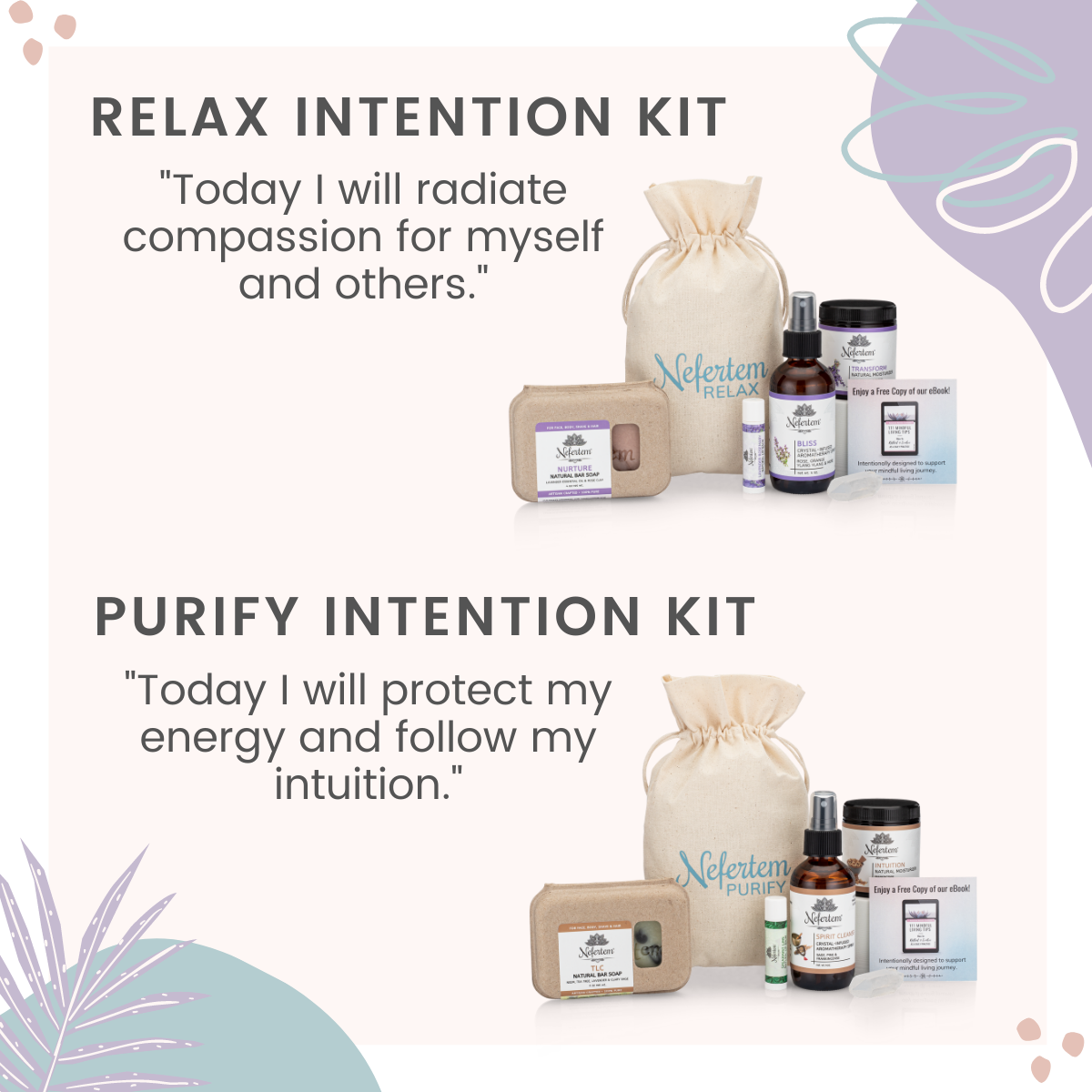 relax intention kit image with decoration