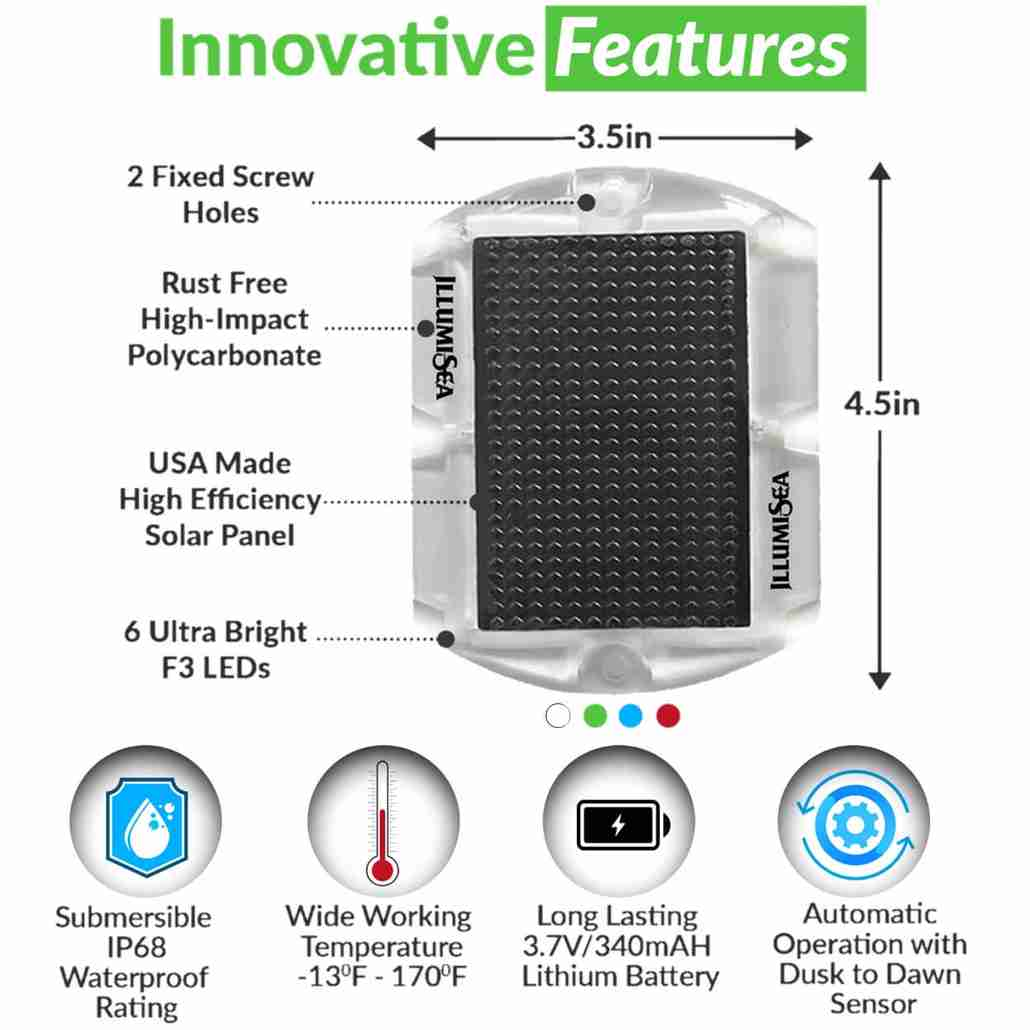 Outdoor led solar lights features