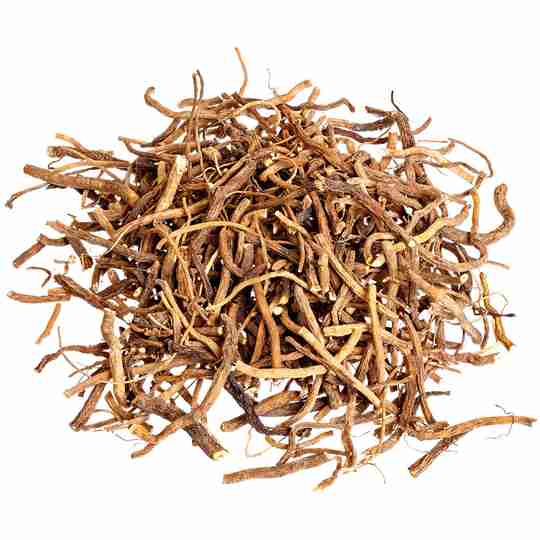 pile of dried valerian root
