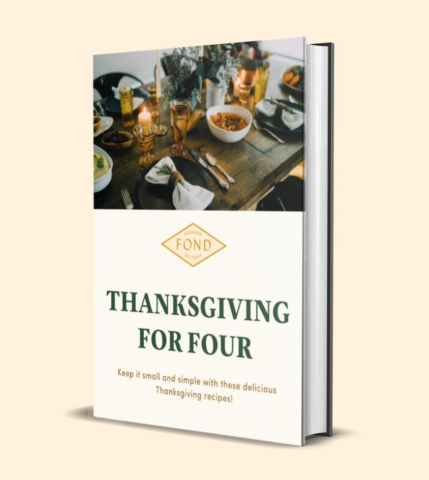 Thanksgiving recipes ebook using FOND bone broth