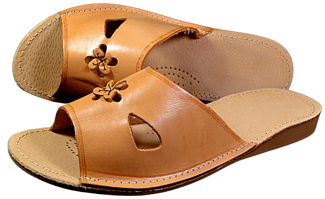 Ladies// Womens 100/% Natural leather slippers size