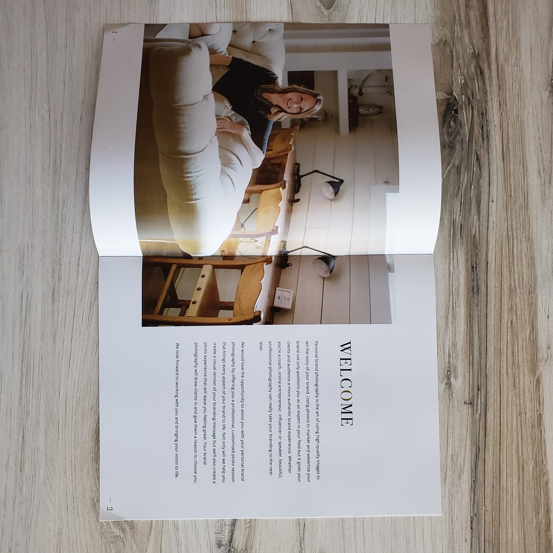 personal brand photography welcome guide template