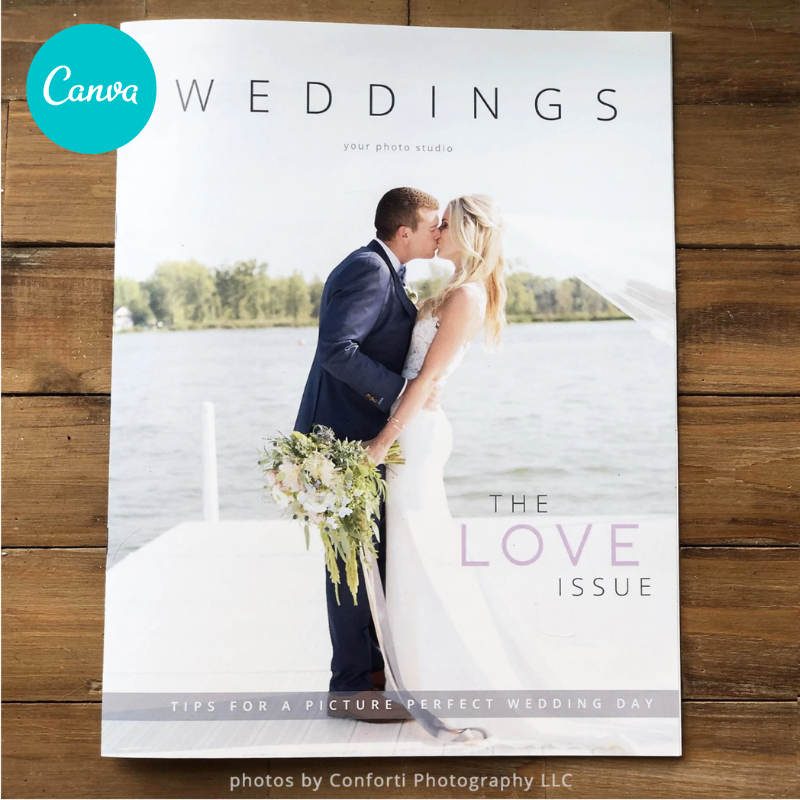 Canva wedding magazine template