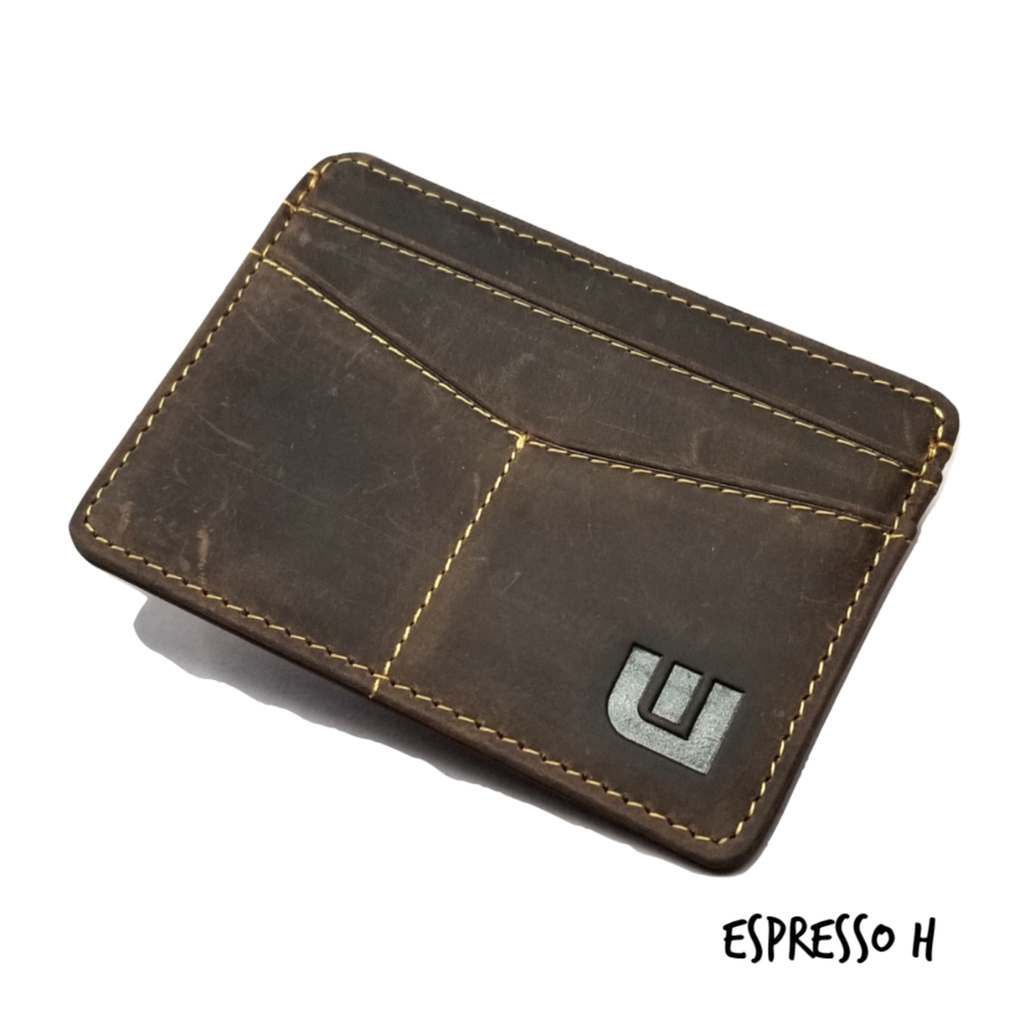 Minimalist ID Leather Wallet - Espresso H