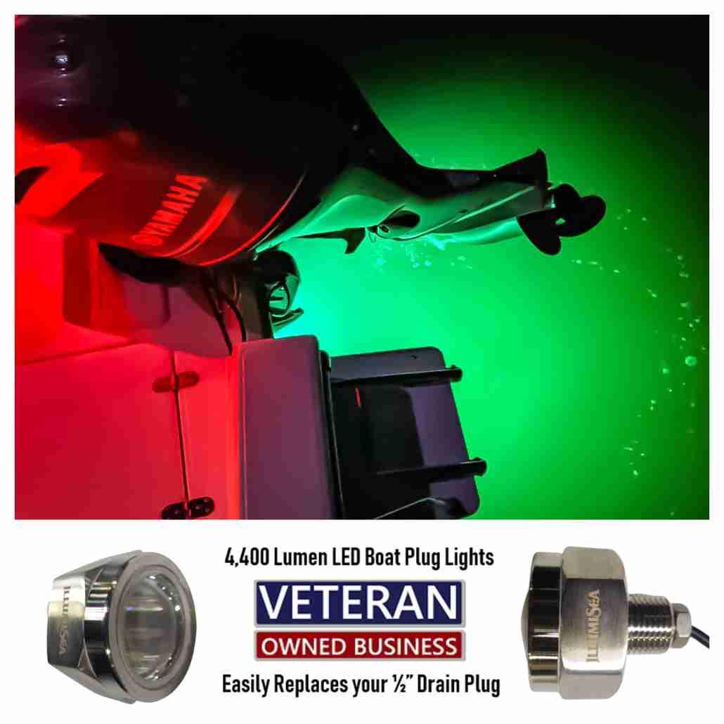 led boat plug transom lights