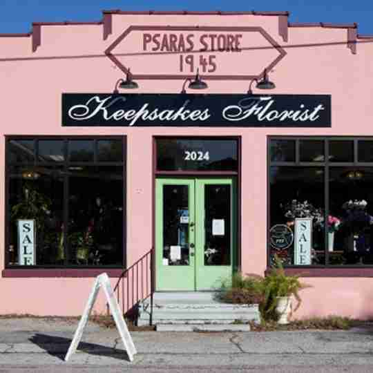 Keepsakes Florist storefront.