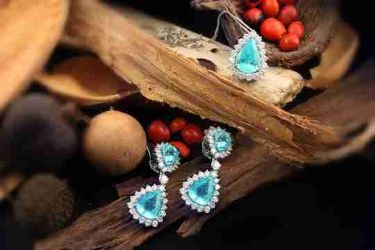 A set of paraiba tourmaline earrings