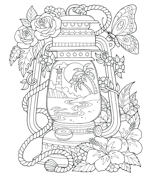 Freebie Friday 07-19-19 Tropical Scenes Coloring Page