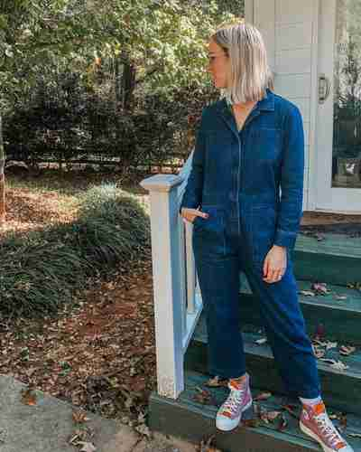 Women's Utility Coverall | Tradlands Guide Coverall in Denim