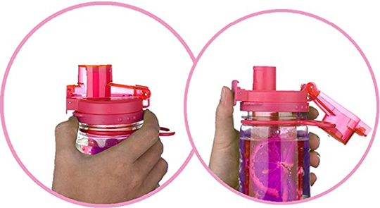 Infuser Water Bottle 25oz - Lollipop Pink - Flip Top