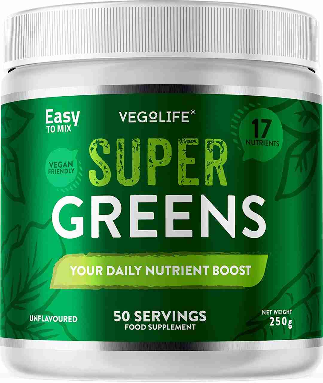 Vegolife Super Greens - Cruelty Free Vegan friendly greens drink powder