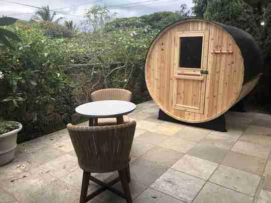 What is a barrel sauna?