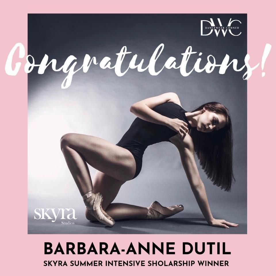 DWC Scholarship winner