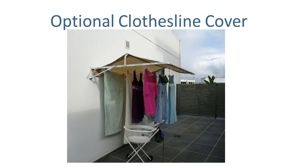 2.4m wide clothesline cover
