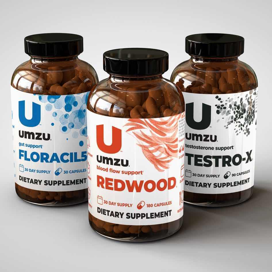 three bottles of the Redwood supplement