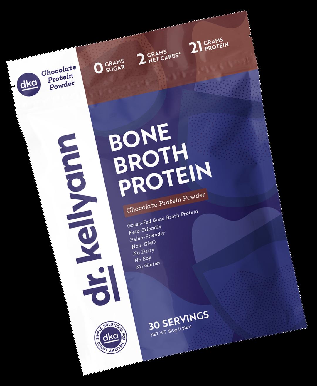 Protéine de bouillon d'os - chocolat