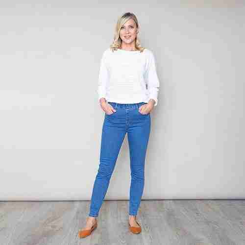 Susi Denim Trousers(Blue)