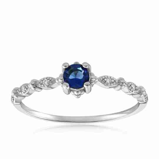 Blue topaz Garen ring