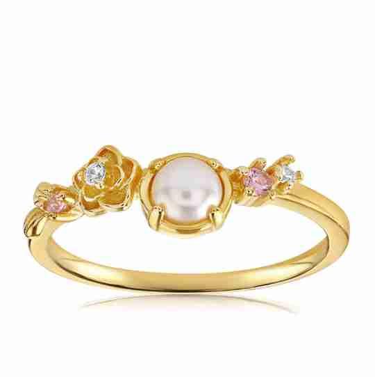 Blush and Bar Grace Pearl ring