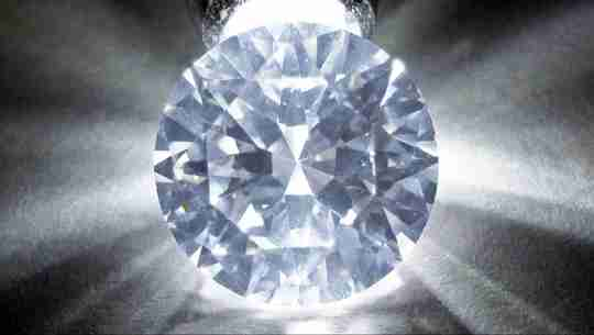 A round cut cubic zirconia gemstone