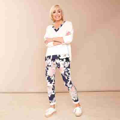 Milly Floral Joggers(Navy)