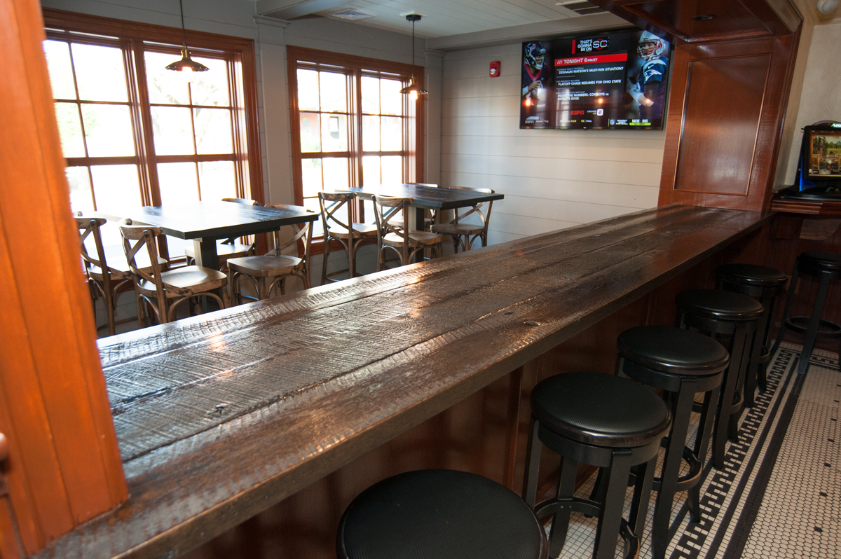 rustic bar table top