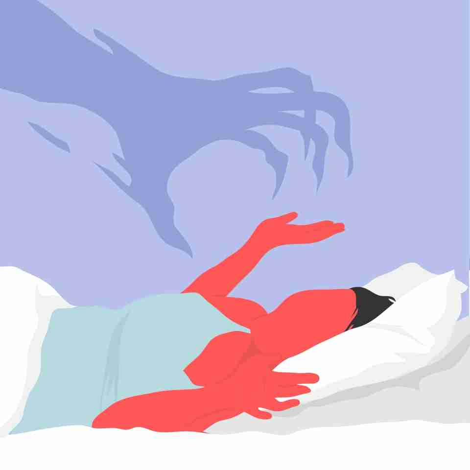 If you're prone to nightmares, you're much more likely to wake up sweaty, because the stress or fear that you experience in your dreams can translate to physically sweating in real life.