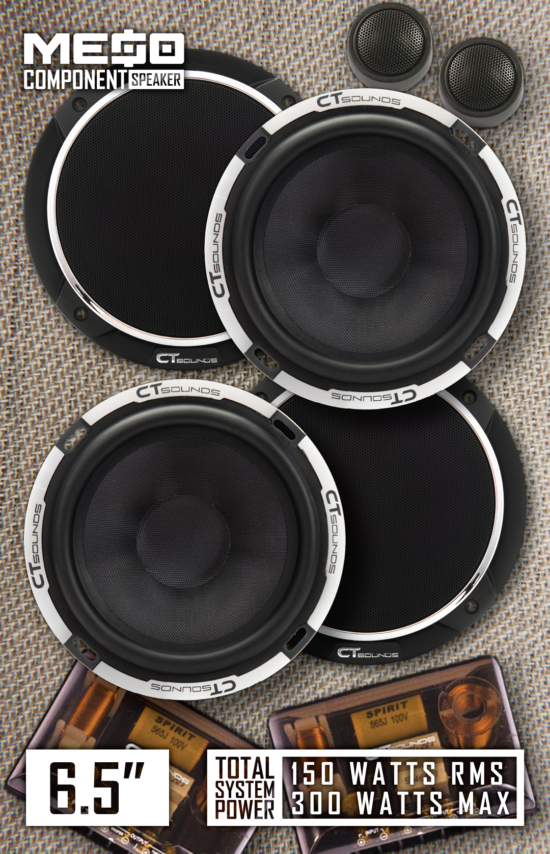 Car Audio Component Speaker Set