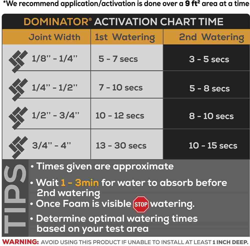 DOMINATOR Activation Time Chart
