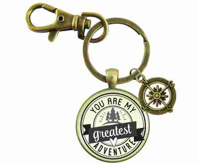 YOU ARE MY GREATEST ADVENTURE KEYCHAIN