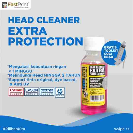 had printer buntu, head cleaner extra protection
