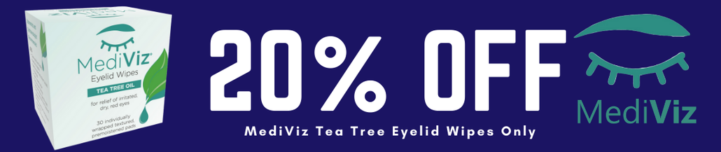 30% Off MediViz Tea Tree Oil Eyelid Wipes