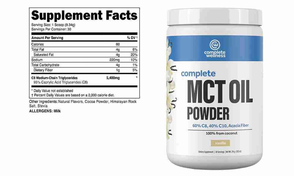 Complete Wellness MCT Oil powder