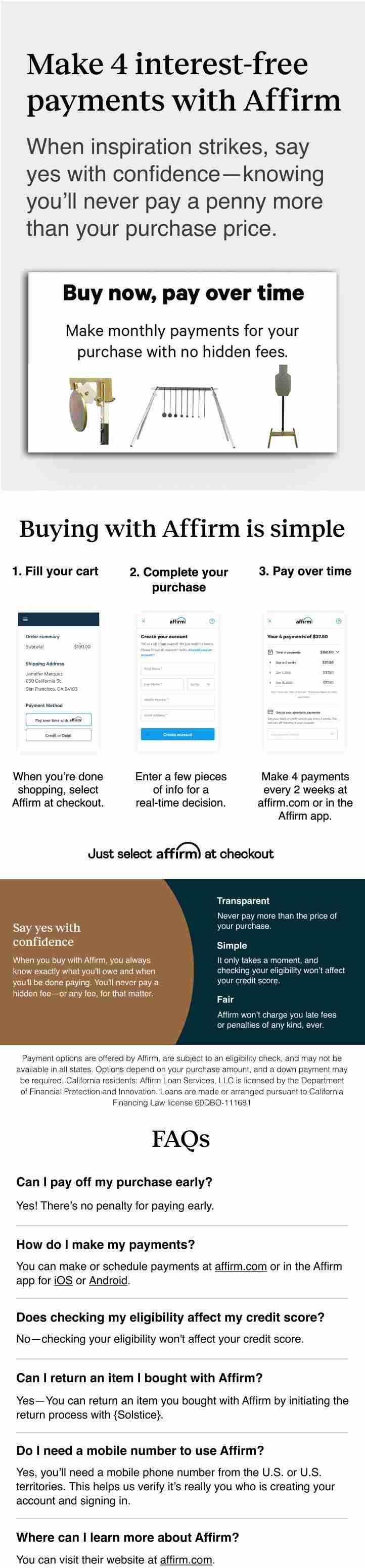 affirm split payments