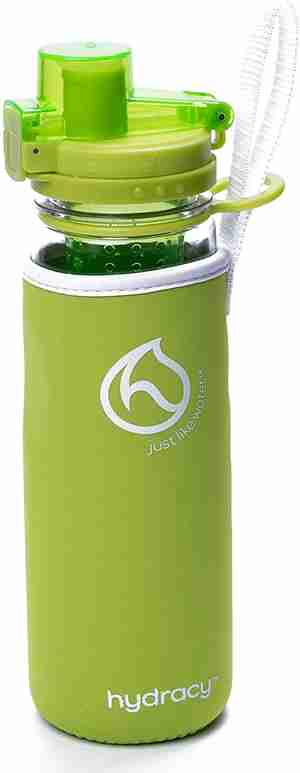 Infuser Water Bottle 25oz - Lime Green - Sleeve