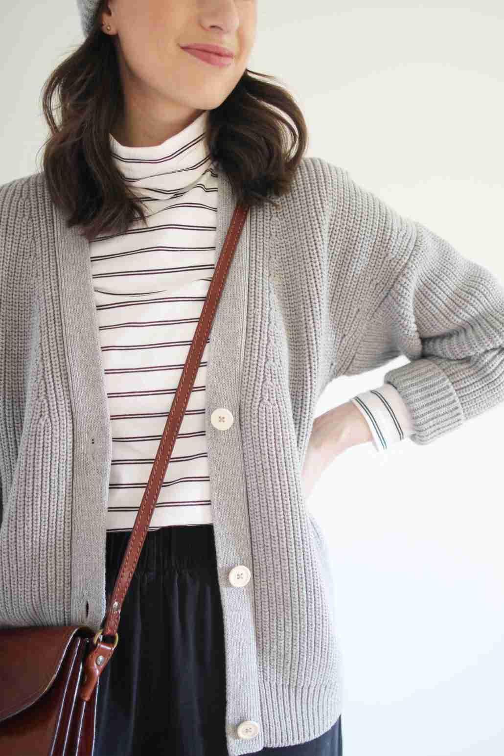 Minimalist Wardrobe Essentials - Grey Knit Cardigan